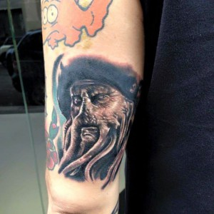 Davy Jones - Pirates of the Caribbean - Realistic Tattoo - Tatuaggi Realistici - Michele Agostini - Rome (Italy)