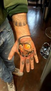 Skull - Teschio - Realistic Tattoo - Tatuaggi Realistici - Michele Agostini - Rome (Italy)