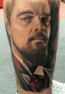 DiCaprio - Django - Realistic Tattoo - Tatuaggi Realistici - Michele Agostini - Rome (Italy)